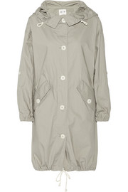 Oversize washed-cotton parka