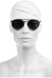 Finds + Mykita Taulant round-frame stainless steel sunglasses