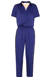 Color-block satin jumpsuit
