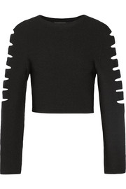 Cushnie et Ochs Cutout stretch-knit top