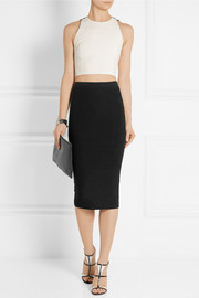 Cushnie et Ochs Ribbed stretch-knit pencil skirt