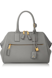 Incognito medium textured-leather tote