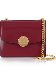 Trouble mini glossed-leather shoulder bag