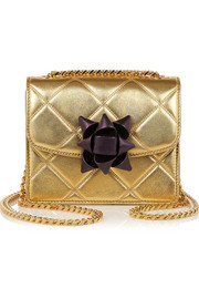 Trouble mini metallic quilted leather shoulder bag