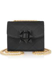 Trouble mini quilted silk-satin shoulder bag