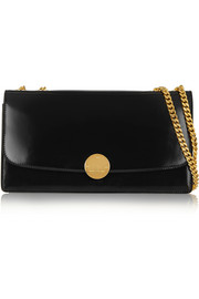 Double Trouble patent-leather shoulder bag