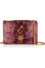 Trouble sequin-embellished python shoulder bag
