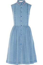 Preen Line Alabama embroidered chambray shirt dress