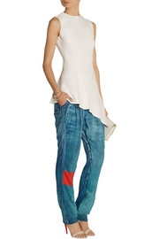 Preen Line Lexington denim-print jersey tapered pants