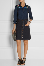 Preen Line Penelope stretch-denim skirt