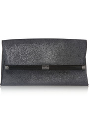 440 Envelope glitter-finished suede clutch