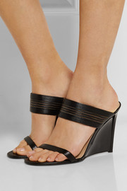 Valencia leather wedge sandals