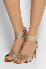 Diane von Furstenberg Kinder glitter-finished leather sandals