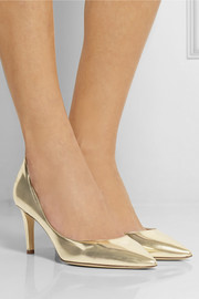 Diane von Furstenberg Heather mirrored-leather pumps
