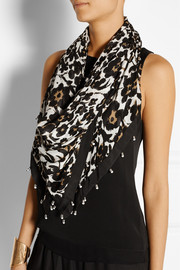 New Bubsy printed jersey scarf
