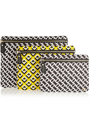 Diane von Furstenberg Set of three printed pouches