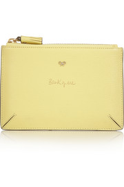 Anya Hindmarch Bank Of Me textured-leather pouch