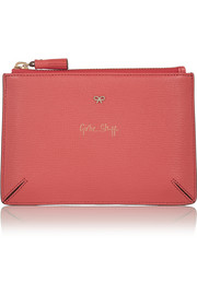 Anya Hindmarch Girlie Stuff textured-leather pouch