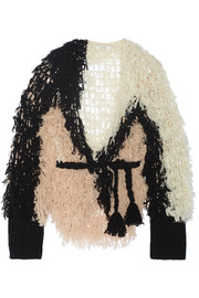 + Ryan Roche open-knit cashmere cardigan
