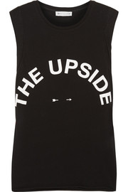 The Upside Muscle printed cotton-jersey tank