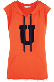 The Recovery appliquéd cotton-jersey hooded top