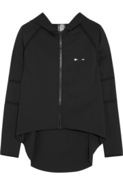 Lima stretch-jersey hooded top