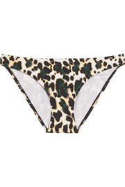 The Upside Moss leopard-print bikini briefs