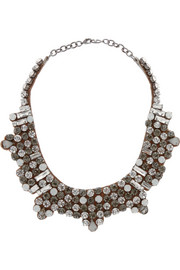 Valentino Dark Glamorous silver-tone crystal necklace