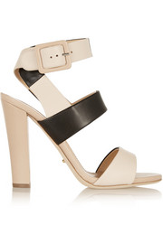 Sergio Rossi Color-block leather sandals