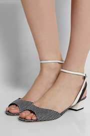 Sergio Rossi Woven-paneled leather sandals