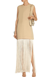 Finds + NOMIA fringed piqué maxi dress