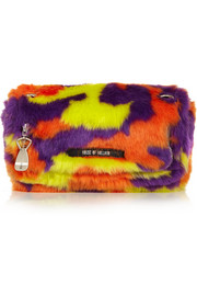 Sausage Roll faux fur shoulder bag