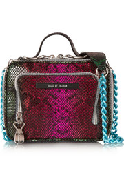 Lunch Box snake-effect leather shoulder bag