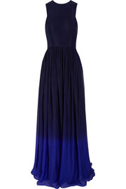 Matthew Williamson Ombré silk-voile gown