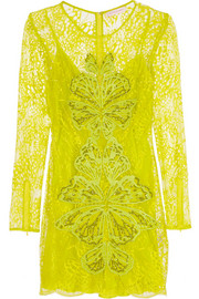 Matthew Williamson Embellished lace mini dress