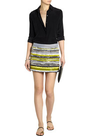 Matthew Williamson Embellished crepe mini skirt