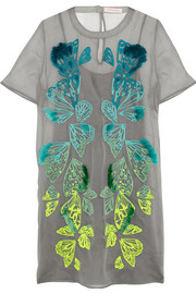 Matthew Williamson Embroidered silk-organza mini dress
