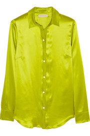 Silk-charmeuse shirt