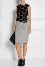 Derek Lam Flocked-jacquard and jersey dress