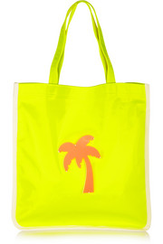 Fay appliquéd neon canvas tote