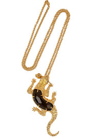 Alexander McQueen Gold-plated Swarovski crystal necklace