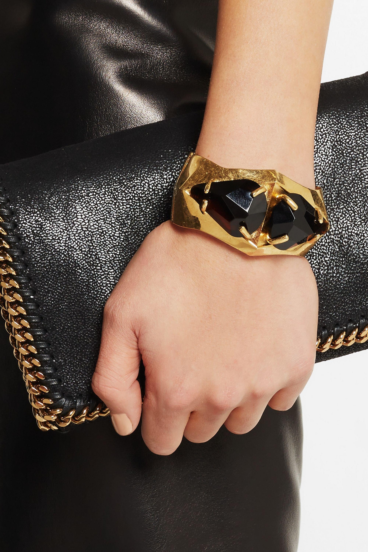 Alexander McQueen Gold-plated Swarovski crystal bracelet