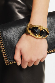 Gold-plated Swarovski crystal bracelet