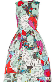 Mary Katrantzou Astere printed satin dress