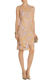 Mary Katrantzou Swiss lace-appliquéd tulle dress
