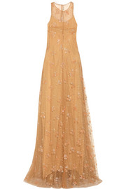 Mary Katrantzou Glitter-embellished tulle gown