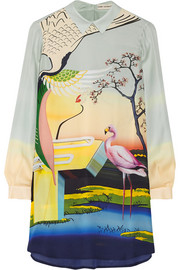 Mary Katrantzou Printed silk-georgette mini dress
