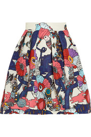 Algernon printed faille mini skirt
