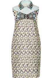 Taby embellished jacquard mini dress