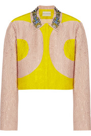 Mary Katrantzou P two-tone alphabet-jacquard jacket